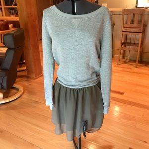 Anthropologie sweatshirt dress medium